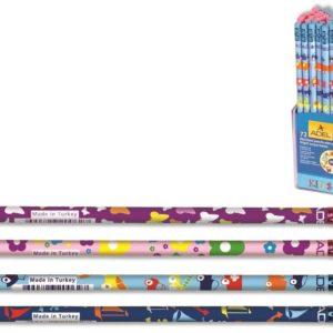 ADEL-OFİS MALZEMELERİ-Yazı Gereçleri-Kurşun Kalemler-Adel Kids Desenli Silgili Kurşunkalem