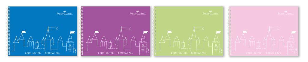 Faber-Castell-KAĞIT ÜRÜNLERİ-Defterler-Plastik Kapak Defterler-Faber-Castell Pp Kapak Resim Defteri 25X35 Cm