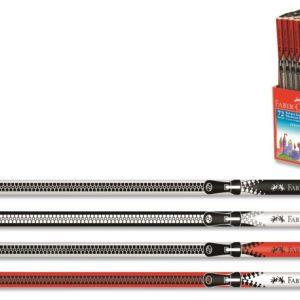 Faber-Castell-OFİS MALZEMELERİ-Yazı Gereçleri-Kurşun Kalemler-Faber-Castell Fermuar Desenli Kurşun Kalemler