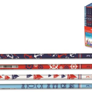 Faber-Castell-OFİS MALZEMELERİ-Yazı Gereçleri-Kurşun Kalemler-Faber-Castell Marin Desenli Dipli Kurşunkalem