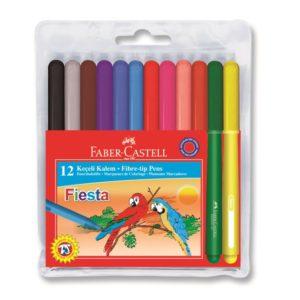 Faber-Castell-OKUL GEREÇLERİ-Resim Gereçleri-Kalem Boyalar-Faber-Castell Fiesta Keçeli Kalem