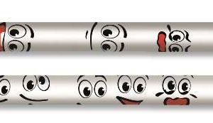 ADEL-OFİS MALZEMELERİ-Yazı Gereçleri-Kurşun Kalemler-Adel Komik Yüzler Dipli Kurşunkalemler