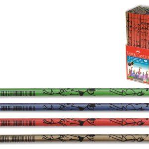 Faber-Castell-OFİS MALZEMELERİ-Yazı Gereçleri-Kurşun Kalemler-Faber-Castell 1136 Çöp Adamlar Dipli Kurşunkalem (Stoklarla Sınırlıdır
