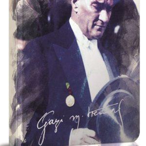 GIPTA-KAĞIT ÜRÜNLERİ-Defterler-Prestij Ve Ayraçlı Defterler-Atatürk İplik Dikişli Lastikli Of.Sert Kapak Defter A6 80Y Çiz(Stand)