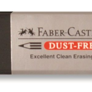 Faber-Castell-OKUL GEREÇLERİ-Silgiler--Faber-Castell Dust-Free Siyah Silgi