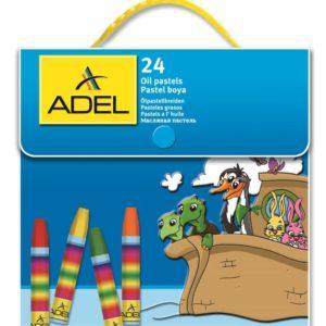 ADEL-OKUL GEREÇLERİ-Resim Gereçleri-Pastel Boyalar-Adel Çantalı Pastel Boya