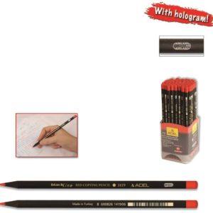ADEL-OFİS MALZEMELERİ-Yazı Gereçleri-Kurşun Kalemler-Adel 1419 Kırmızı Kopya Boya Kalemi Siyah Lata