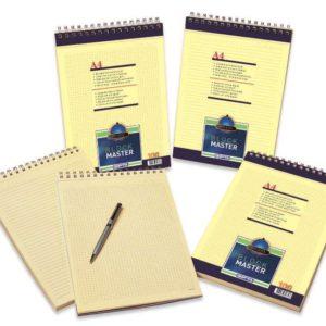 GIPTA-KAĞIT ÜRÜNLERİ-Defterler-Bloknot-Block Master Spiralli Karton  Kapak Blok.A4-100 Yaprak Kare