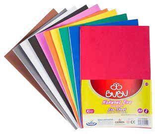 BU-BU-OKUL GEREÇLERİ-Okul Öncesi Ürünler-Eva Çeşitleri-Bu-Bu Eva A4 2mm 10 Renk