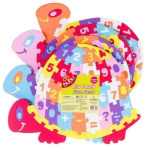 BU-BU-OYUNCAKLAR-Puzzle Çeşitleri--Bu-Bu Eva Puzzle Kaplumbağa Rakamlar
