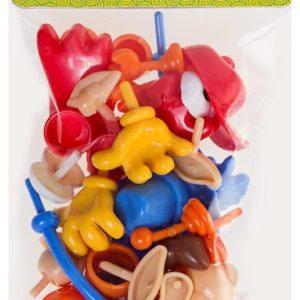 BU-BU-OKUL GEREÇLERİ-Okul Öncesi Ürünler-Oyun Hamuru Kalıbı Ve Aksesuarları-Bu-Bu Plastik Oyun Hamuru Aksesuarları 26 Parça