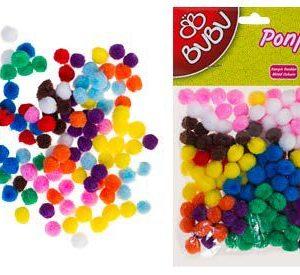 BU-BU-OKUL GEREÇLERİ-Okul Öncesi Ürünler-Ponponlar-Bu-Bu Ponpon 1cm 200'lü Karma 10 Renk