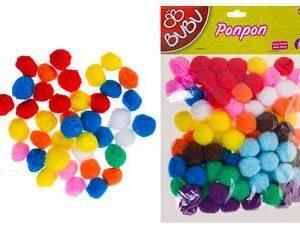 BU-BU-OKUL GEREÇLERİ-Okul Öncesi Ürünler-Ponponlar-Bu-Bu Ponpon 2cm 100'lü Karma