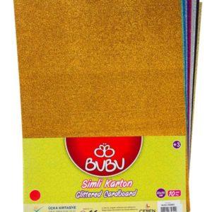 BU-BU-OKUL GEREÇLERİ-Okul Öncesi Ürünler-Etkinlik Materyalleri-Bu-Bu Simli Karton  Karışık Renk 50x70