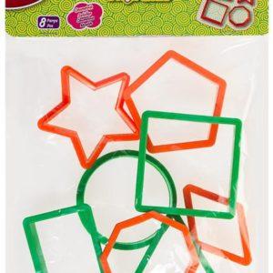 BU-BU-OKUL GEREÇLERİ-Okul Öncesi Ürünler-Oyun Hamuru Kalıbı Ve Aksesuarları-Bu-bu Hamur Kalıbı Geometrik Şekiller 8 parça