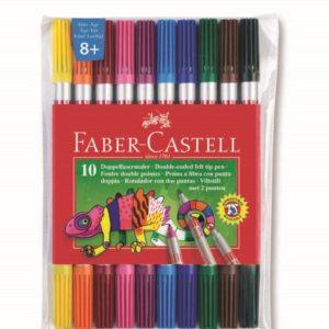 Faber-Castell-OKUL GEREÇLERİ-Resim Gereçleri-Kalem Boyalar-Faber-Castell Çift Uçlu Keçeli Kalem