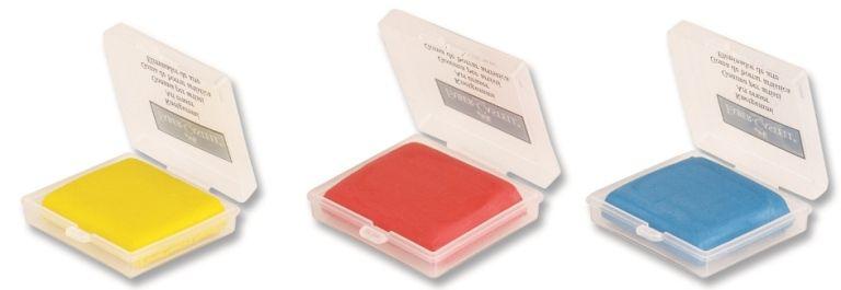 Faber-Castell-OKUL GEREÇLERİ-Silgiler--Faber-Castell 7020-18 Renkli Hamur Silgi Plastik Kutu