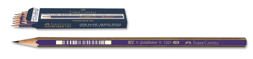 Faber-Castell-OKUL GEREÇLERİ-Resim Gereçleri-Dereceli Kalemler-Goldfaber 1221 Dereceli Kurşunkalem 3H