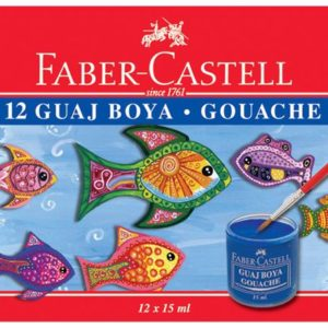 Faber-Castell-OKUL GEREÇLERİ-Resim Gereçleri-Guaj Boyalar-Faber-Castell Guaj Boya 12'Li