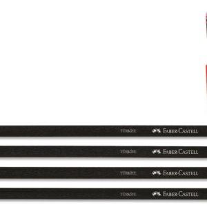 Faber-Castell-OFİS MALZEMELERİ-Yazı Gereçleri-Kurşun Kalemler-Faber-Castell Naturel Gövde Silgili Kurşunkalem Siyah Lata