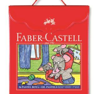 Faber-Castell-OKUL GEREÇLERİ-Resim Gereçleri-Pastel Boyalar-Faber-Castell Plastik Çantalı Tutuculu Pastel Boya