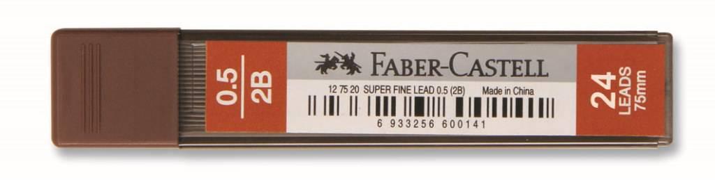 Faber-Castell-OFİS MALZEMELERİ-Yazı Gereçleri-Versatil Kalem Uçları (Minler)-Faber-Castell Süper Fine Min 0.5Mm 2B 75mm (24 Min/Tüp)