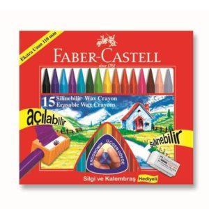 Faber-Castell-OKUL GEREÇLERİ-Resim Gereçleri-Pastel Boyalar-Faber-Castell Silinebilir Mum Boya