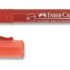 Faber-Castell-OFİS MALZEMELERİ-Yazı Gereçleri-Tükenmez Kalemler-Faber-Castell Super Tech Point (M) Kırmızı 10Lu