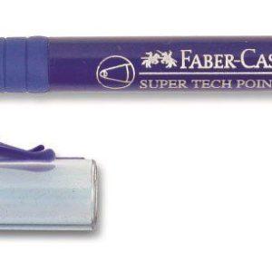 Faber-Castell-OFİS MALZEMELERİ-Yazı Gereçleri-Tükenmez Kalemler-Faber-Castell Super Tech Point (M) Mavi