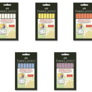 Faber-Castell-OFİS MALZEMELERİ-Bantlar Ve Kesicileri-Çift Taraflı Bantlar-Faber-Castell Tack-İt Karışık Renk 50Gr.