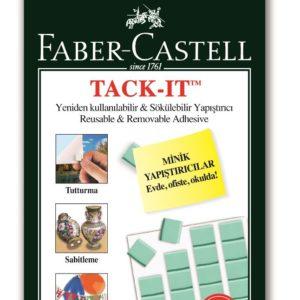 Faber-Castell-OFİS MALZEMELERİ-Bantlar Ve Kesicileri-Çift Taraflı Bantlar-Faber-Castell Tack-İt Yeşil 50Gr.
