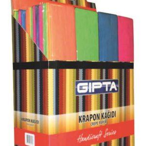 GIPTA-OKUL GEREÇLERİ-Etkinlik Kağıtları-Krapon Kağıtları-Gıpta Renkli Krapon Kağıdı 50*200 (10 Adet Krş.)