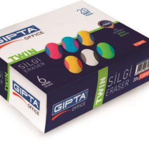 GIPTA-OKUL GEREÇLERİ-Silgiler--Gıpta Silgi - Twin - Çift Renklı - 6 Renk