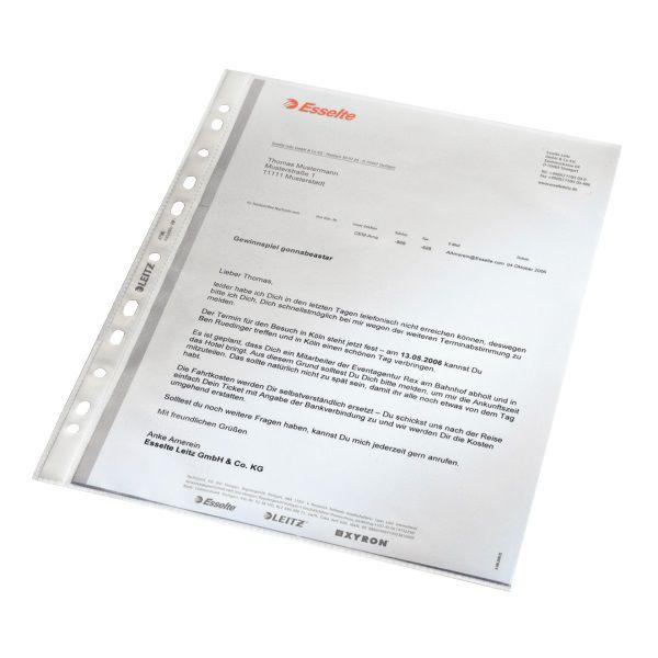 Leitz-OFİS MALZEMELERİ-Dosyalama & Arşivleme-Poşet Dosyalar-Leitz Poşet Dosya  A4 11 Delikli (100 ADET)Buzlu