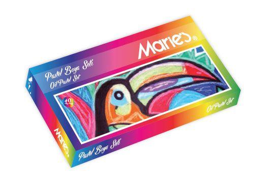 MARİE'S-OKUL GEREÇLERİ-Resim Gereçleri-Pastel Boyalar-Maries Pastel Boya Karton  Kutu 18Li