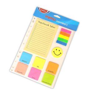 NOKİ-KAĞIT ÜRÜNLERİ-Yapışkanlı Not Kağıtları Ve Pano-Yapışkanlı Not Kağıtları-Noki Memo Combo 3