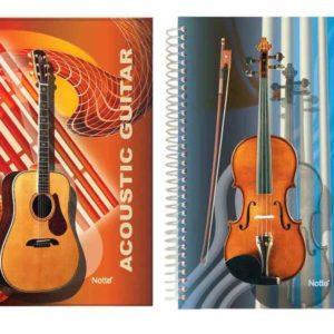 NOTTE-KAĞIT ÜRÜNLERİ-Defterler-Nota Defterleri-Notte 40 Yaprak Spiralli Müzik Defteri A4