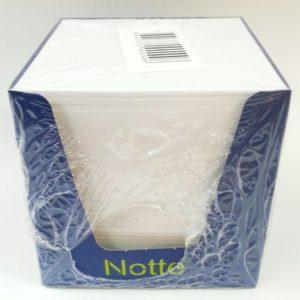 NOTTE-KAĞIT ÜRÜNLERİ-Yapışkanlı Not Kağıtları Ve Pano-Küp Not Kağıtları-Notte Küp Blok Beyaz 8*8