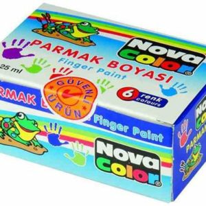 NOVA COLOR-OKUL GEREÇLERİ-Resim Gereçleri-Parmak Boyalar-Nova Color Parmak Boyası 6Lı 25 Ml