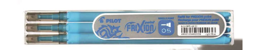 PİLOT-OFİS MALZEMELERİ-Yazı Gereçleri-Silinebilir Tükenmez Kalem-Pilot Frixion Poınt 0.5 Açık Mavi Refıll 3'Lü Set -Yeni-