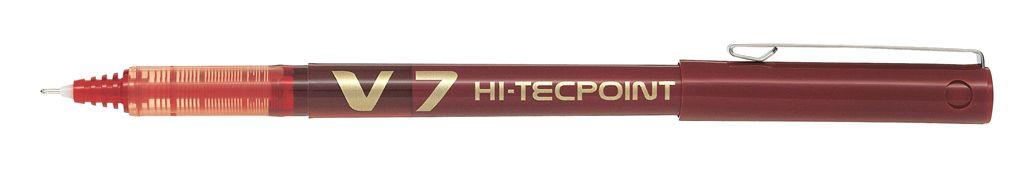 PİLOT-OFİS MALZEMELERİ-Yazı Gereçleri-İğne Uçlu Kalemler-Pilot V7 Hi-Tecpoınt Kırmızı