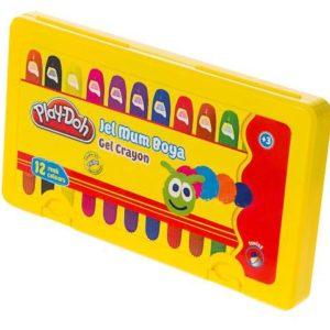 PLAY-DOH-OKUL GEREÇLERİ-Resim Gereçleri-Mum Boyalar-Play-Doh 12 Renk Jel Crayon