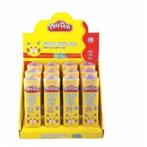 PLAY-DOH-OKUL GEREÇLERİ-Resim Gereçleri-Kuru Boyalar-Play-Doh 12 Renk Jumbo Üçgen Kuru Boya / Tüp