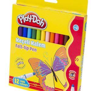 PLAY-DOH-OKUL GEREÇLERİ-Resim Gereçleri-Kalem Boyalar-Play-Doh 12 Renk Keçeli Kalem Karton  Kutu 5mm
