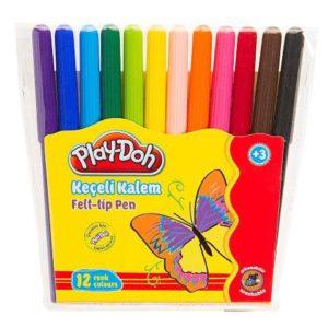 PLAY-DOH-OKUL GEREÇLERİ-Resim Gereçleri-Kalem Boyalar-Play-Doh 12 Renk Keçeli Kalem Pvc 2mm
