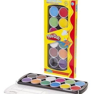 PLAY-DOH-OKUL GEREÇLERİ-Resim Gereçleri-Sulu Boyalar-Play-Doh 12 Renk Tablet Sulu Boya 30 mm