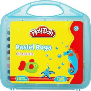 PLAY-DOH-OKUL GEREÇLERİ-Resim Gereçleri-Pastel Boyalar-Play-Doh 18 Renk Pastel Boya Plastik Çantalı