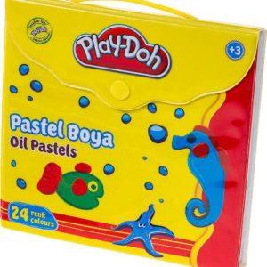 PLAY-DOH-OKUL GEREÇLERİ-Resim Gereçleri-Pastel Boyalar-Play-Doh 24 Renk Pastel Boya / Çantalı