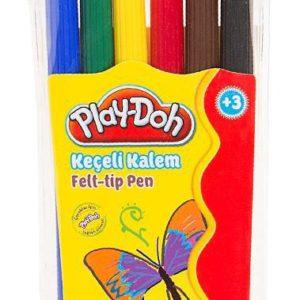 PLAY-DOH-OKUL GEREÇLERİ-Resim Gereçleri-Kalem Boyalar-Play-Doh 6 Renk Keçeli Kalem Pvc 2mm
