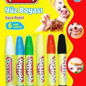 PLAY-DOH-OKUL GEREÇLERİ-Resim Gereçleri-Yüz Boyaları-Play-Doh 6 Renk Yüz Boyası